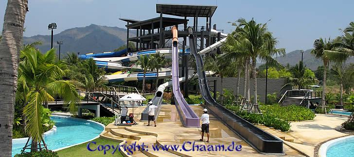Wasserrutschen Black Mountain Waterpark, Thailand