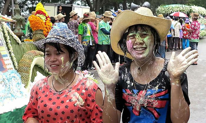 Songkran feiern Cha-Am