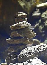 Zen Steine in buddhistischem Tempel